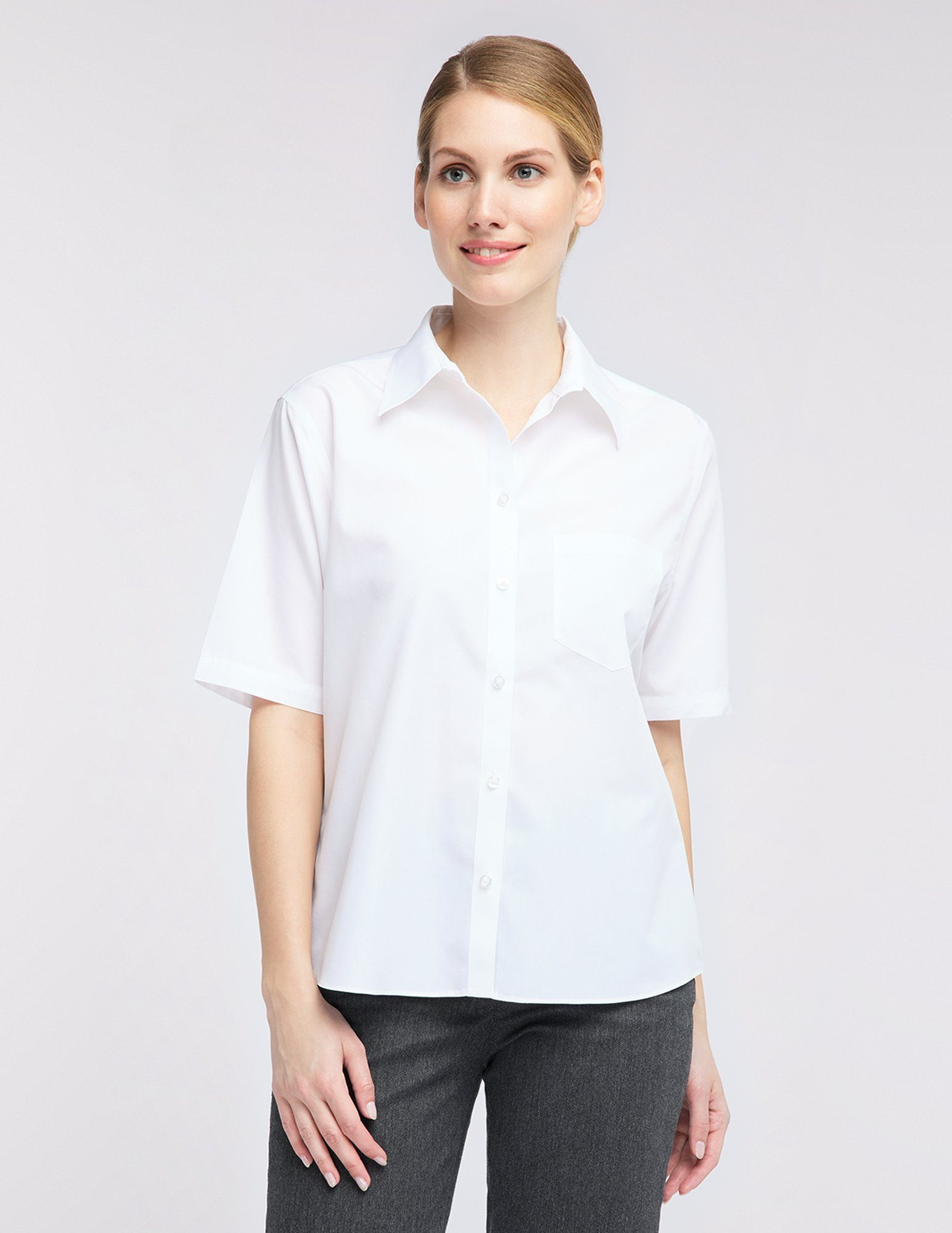 Pionier workwear Damenbluse kurzarm Premium Business Line