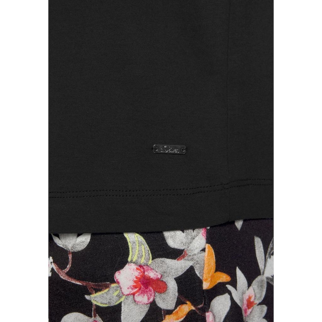 s.Oliver Bodywear Pyjama, mit Blumenmuster