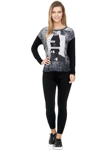 Decay Langarmshirt »im Printdesign«, mit Schnüren kaufen