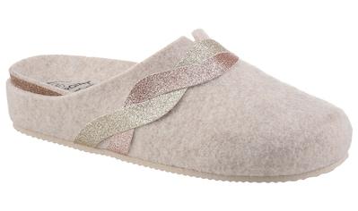 BIO POINT Pantoffel, mit Metallic-Verzierung kaufen