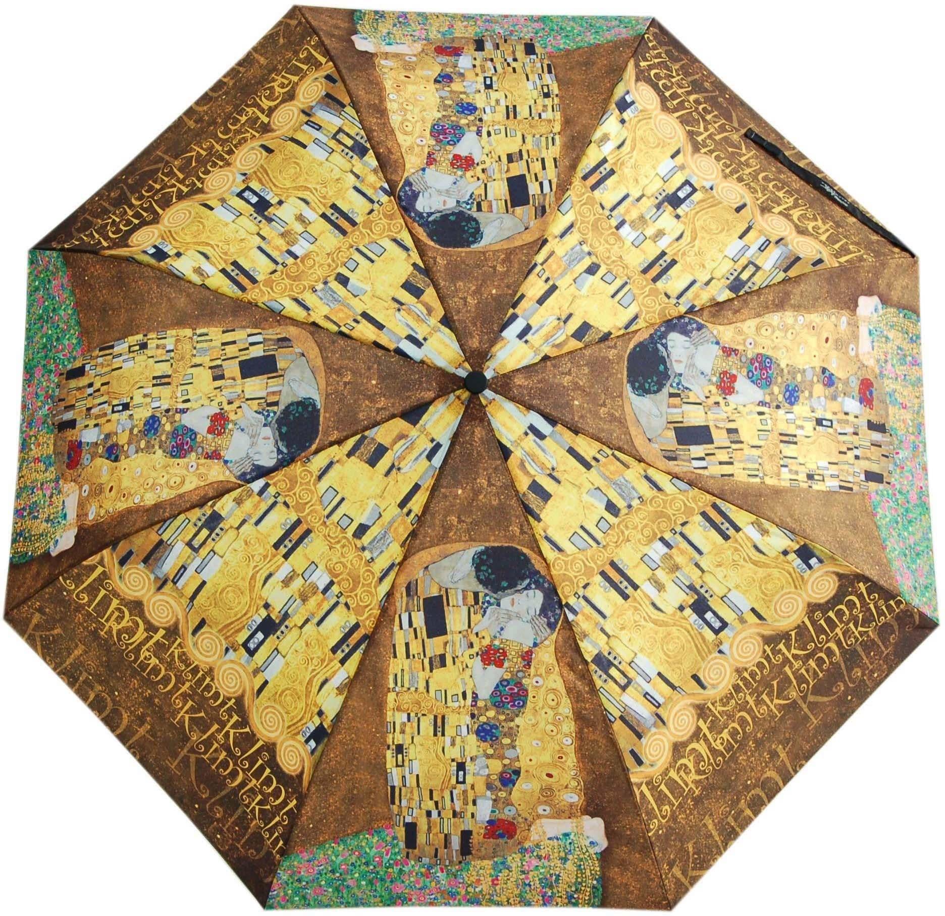 "doppler Taschenregenschirm ""Art Collection Magic Mini Klimt Der Kuss"" Damenmode/Schmuck & Accessoires/Accessoires/Regenschirme/Taschenschirme"