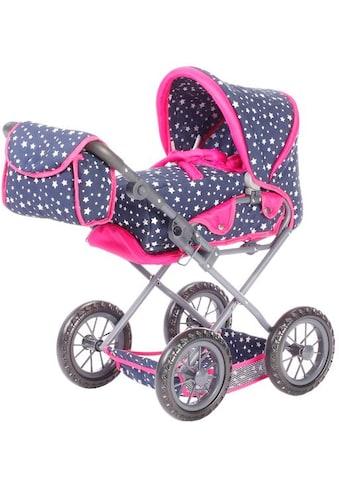 """Knorrtoys® Kombi - Puppenwagen """"Ruby  -  Star Blue"""" kaufen"""