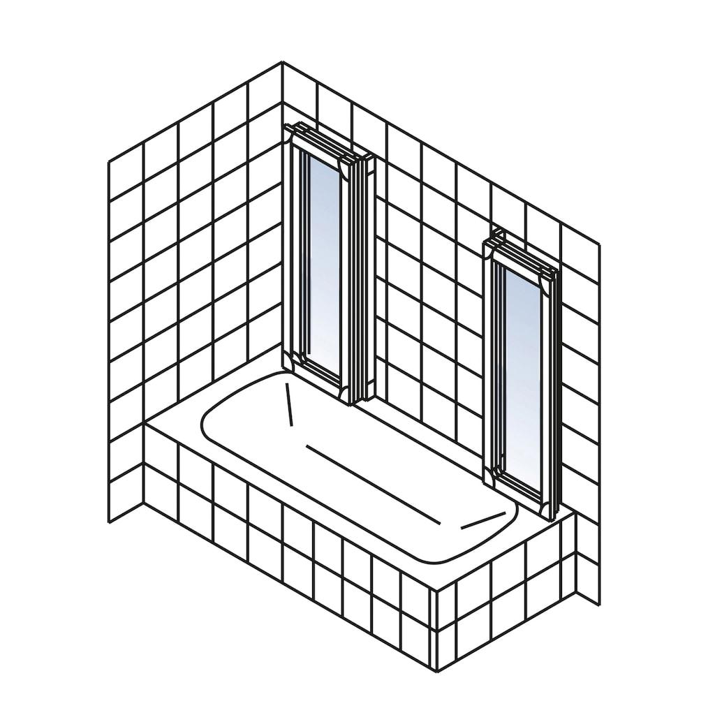 Schulte Badewannenaufsatz, flexibel einsetzbar, nach Gebrauch flach an die Wand klappbar