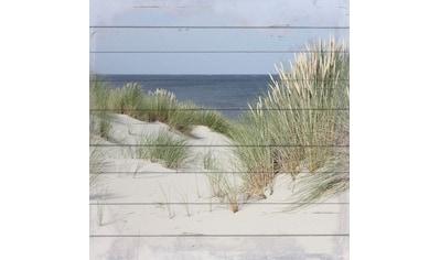 queence Holzbild »Langeoog«, Strand, (1 St.) kaufen