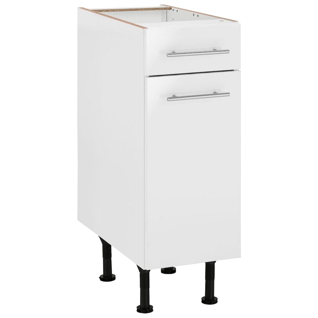 OPTIFIT Unterschrank »Bern«, 30 cm breit, mit 1 Tür, mit 1 Schubkasten, mit höhenverstellbaren Füßen, mit Metallgriffen