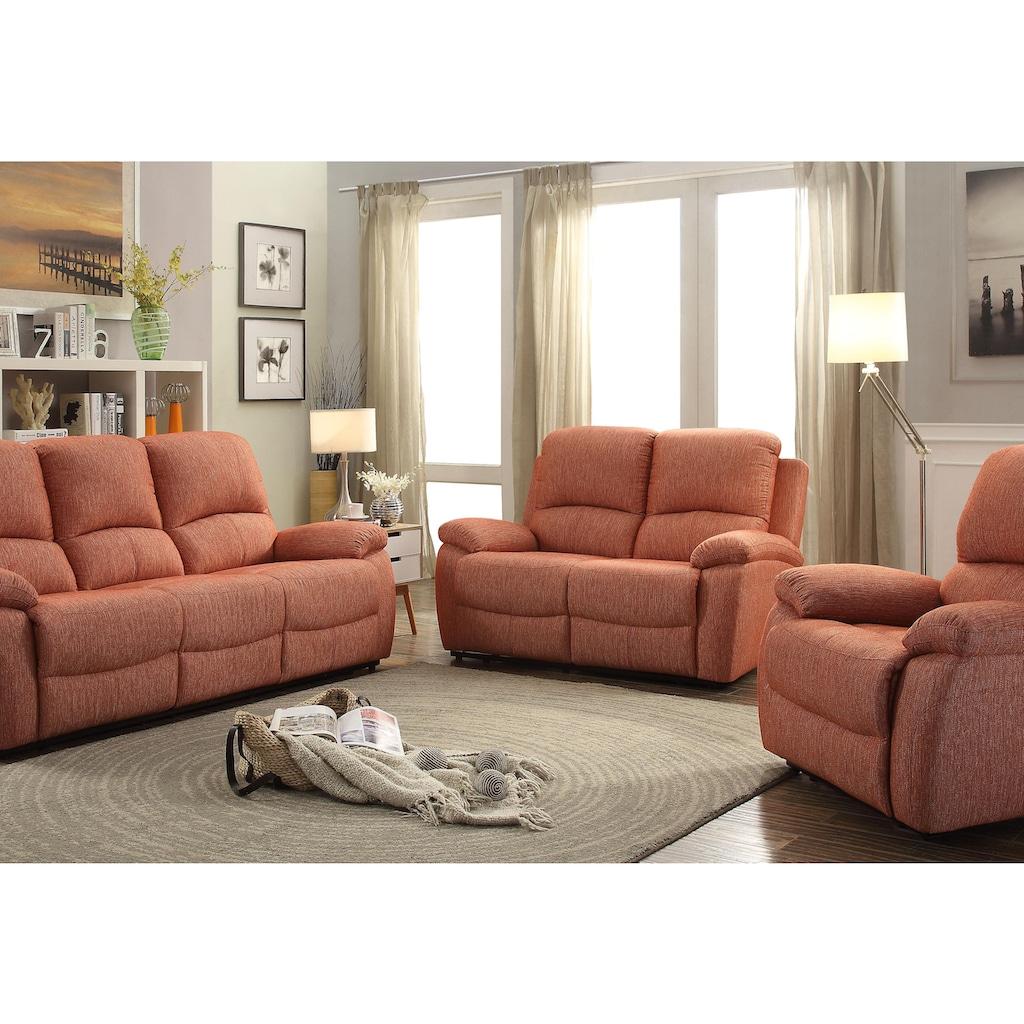 Home affaire 3-Sitzer »Marina«, mit 1 Relaxfunktion und Federkern-Polsterung