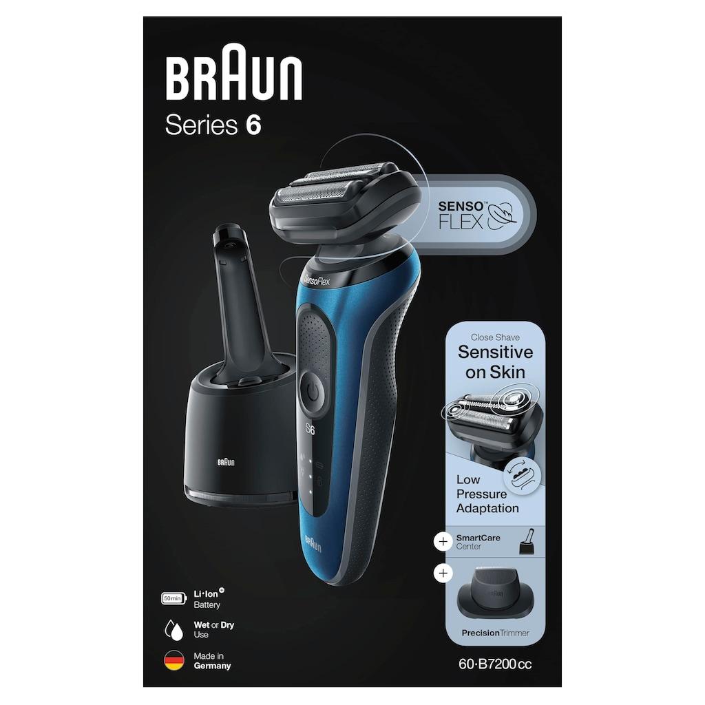 Braun Elektrorasierer »Series 6 60-B7200cc«, Smart Care Center, 1 St. Aufsätze
