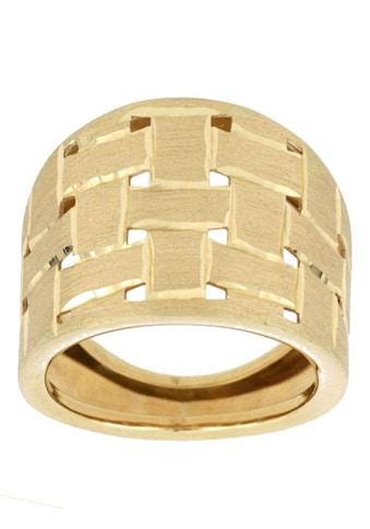 Firetti Goldring »Flechtmuster, Diamantschnitte, satiniert« kaufen