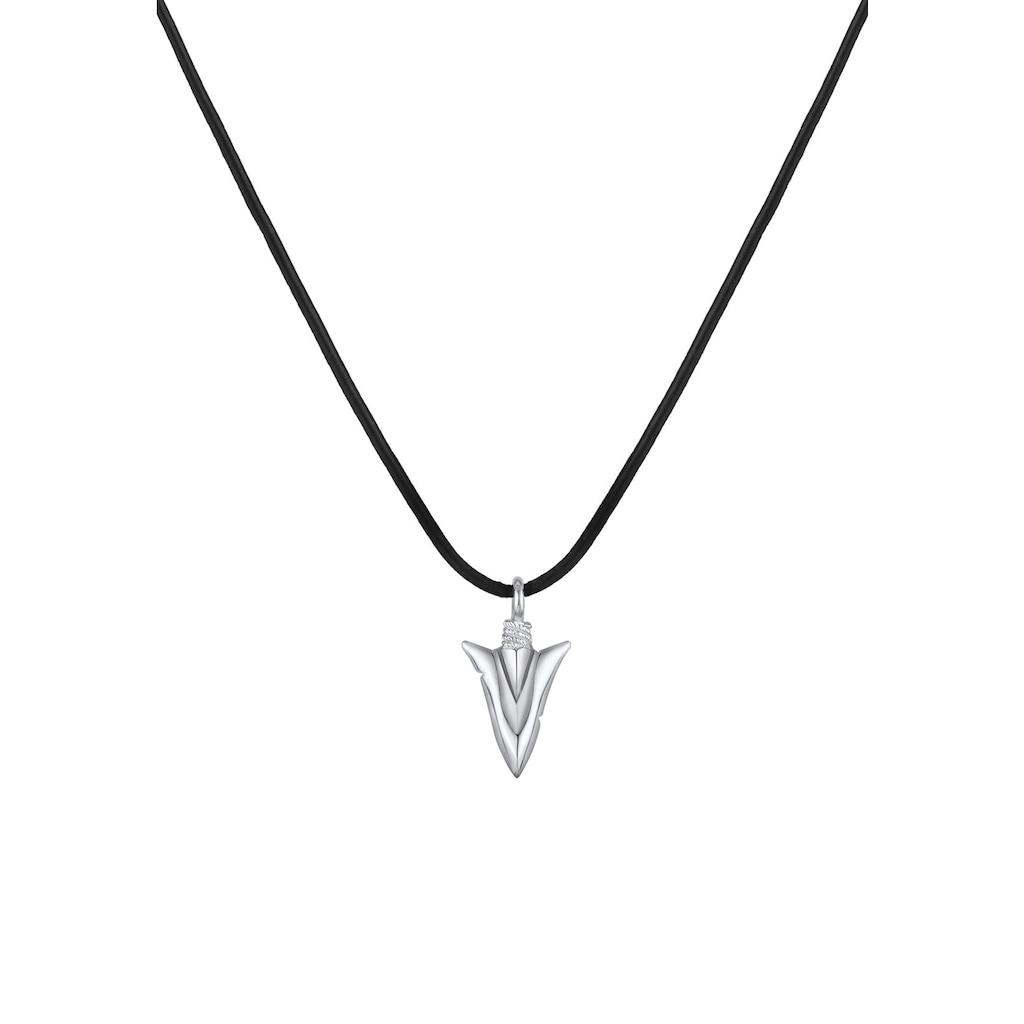Kuzzoi Lederband »Pfeil Arrow Spitze Anhänger Echtleder 925 Silber«