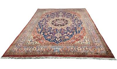 morgenland Wollteppich »Moud Teppich handgeknüpft blau«, rechteckig, 12 mm Höhe kaufen