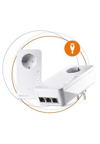 DEVOLO LAN-Router »Magic 2 LAN triple Starterkit«, (2400Mbit,Powerline,4x... kaufen