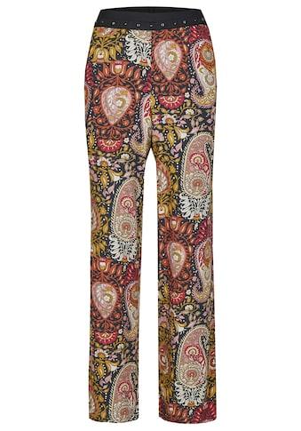 Nicowa Weite Hose mit Nieten und floralem Paisley-Muster - NOSTIFO kaufen