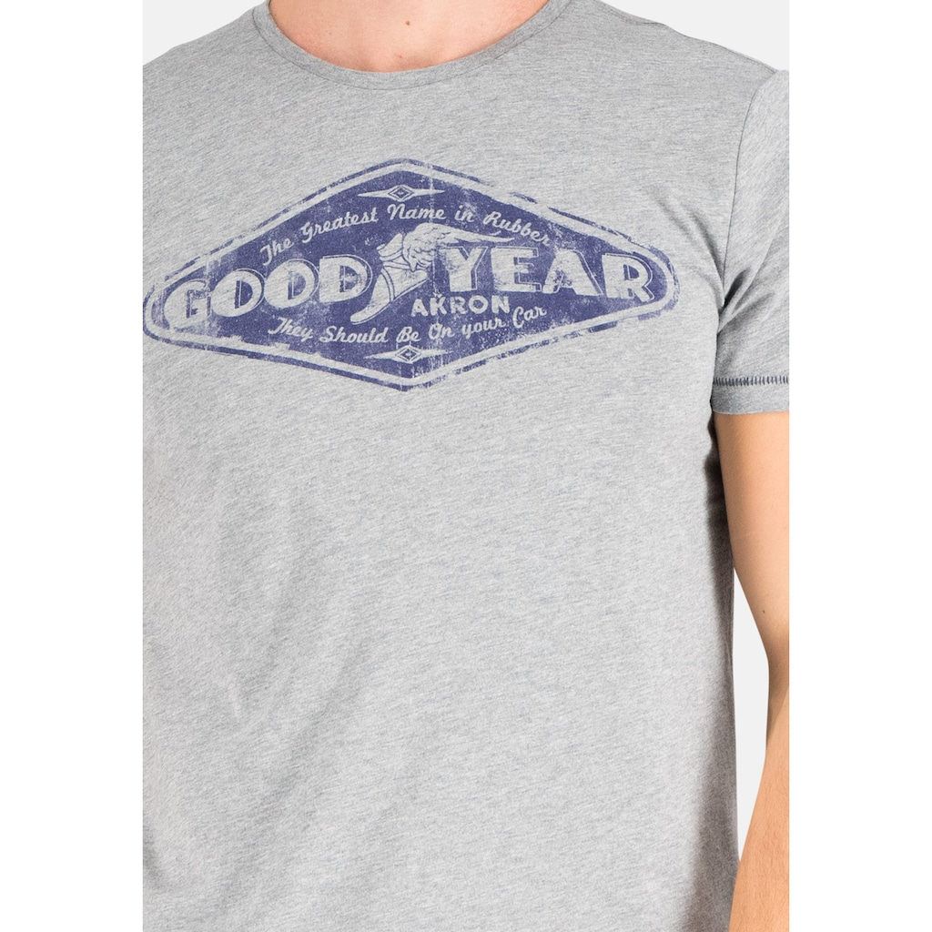 Goodyear T-Shirt »Langhorne«, mit großem Markenprint