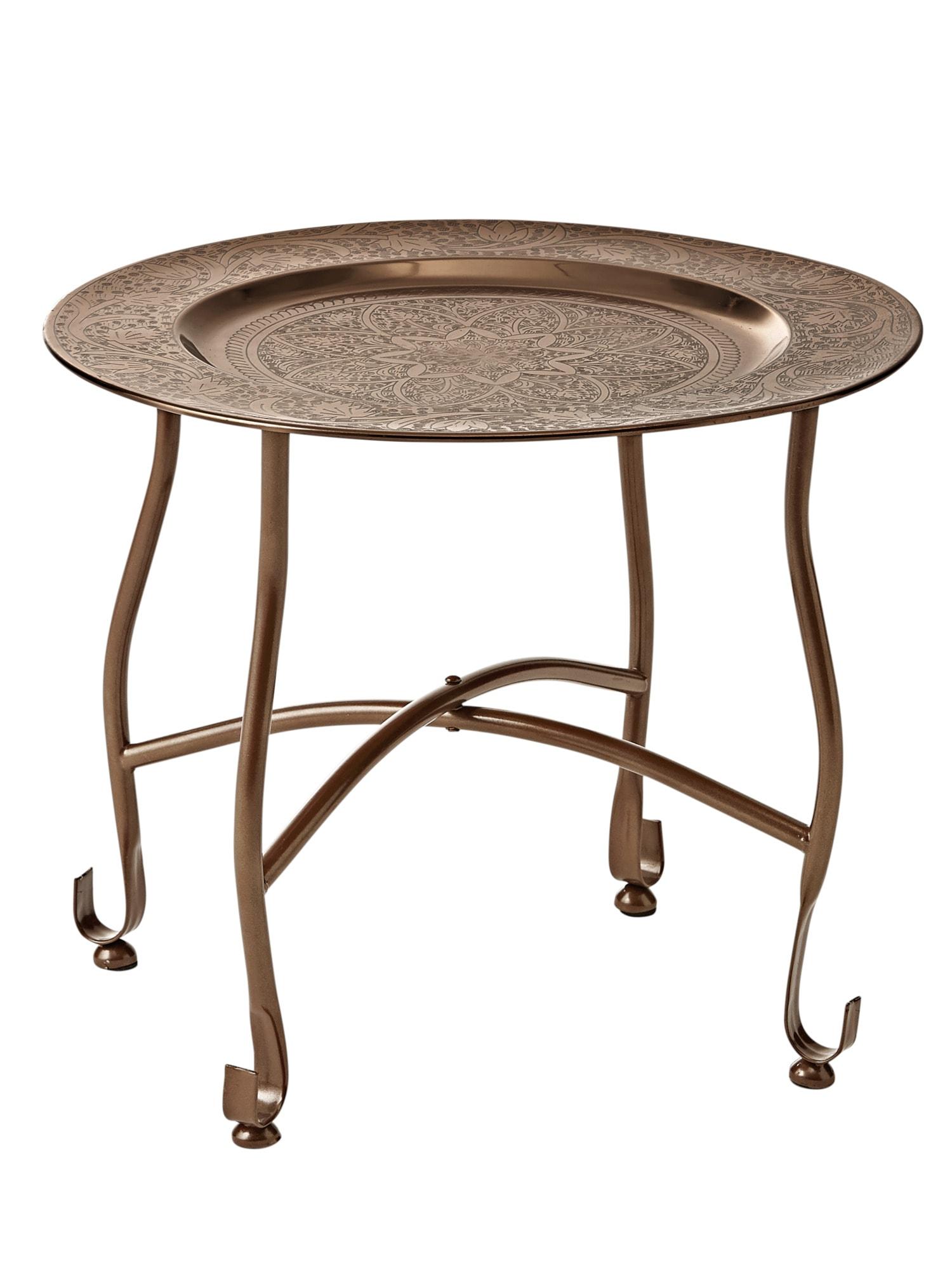 AuBergewohnlich Home Tablett Tisch Metall H/Ø Ca. 36/34 Cm, Klein