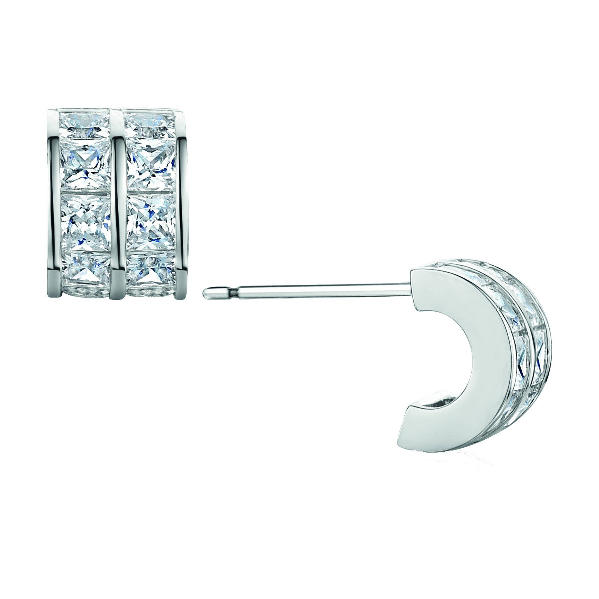 Buckley London Ohrstecker Messing rhodiniert | Schmuck > Ohrschmuck & Ohrringe > Ohrstecker | Weiß | buckley london