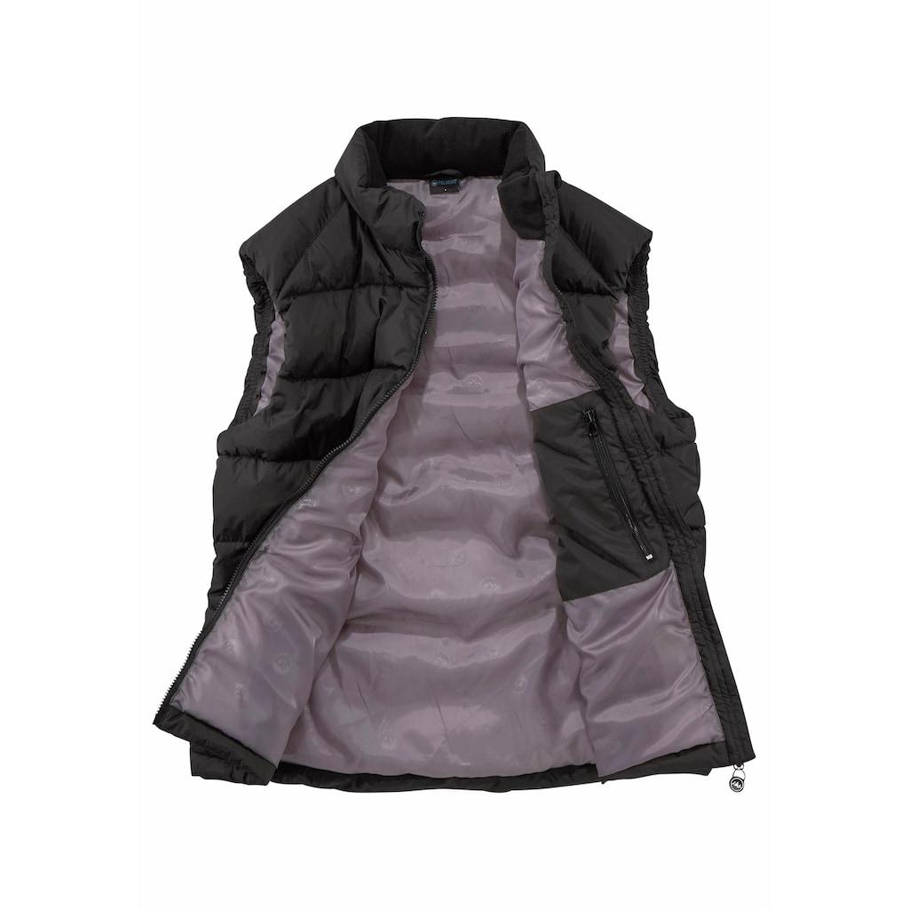 Polarino Steppweste, mit Reißverschlusstaschen und Innentasche