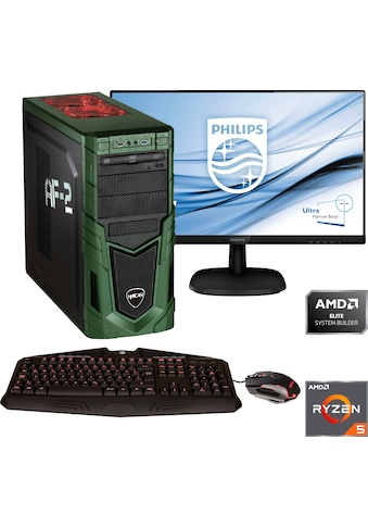 Hyrican »Military SET1875« Gaming - PC - Komplettsystem (AMD, Ryzen 5, GeForce) kaufen