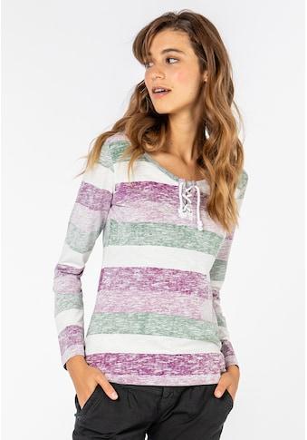 SUBLEVEL Langarmshirt, mit Kordeln kaufen