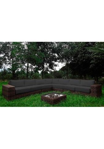 BAIDANI Loungeset »Sensation«, 20 - tlg., Ecklounge, Tisch 67x67x40 cm, Polyrattan kaufen