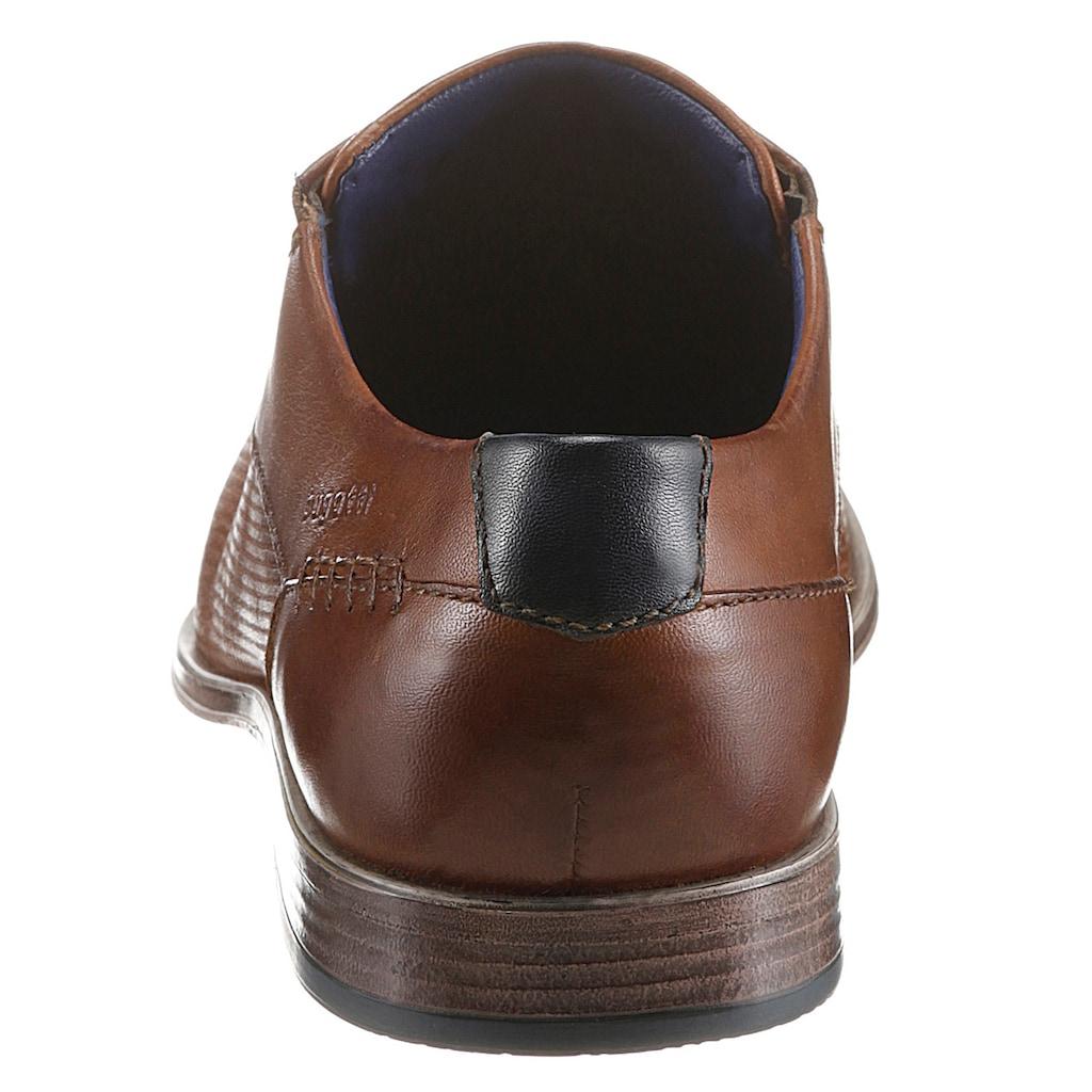 bugatti Schnürschuh »Leagro«, mit praktischem Stretcheinsatz