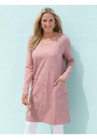 MIAMODA Kleid mit dezentem Wordingprint vorne kaufen