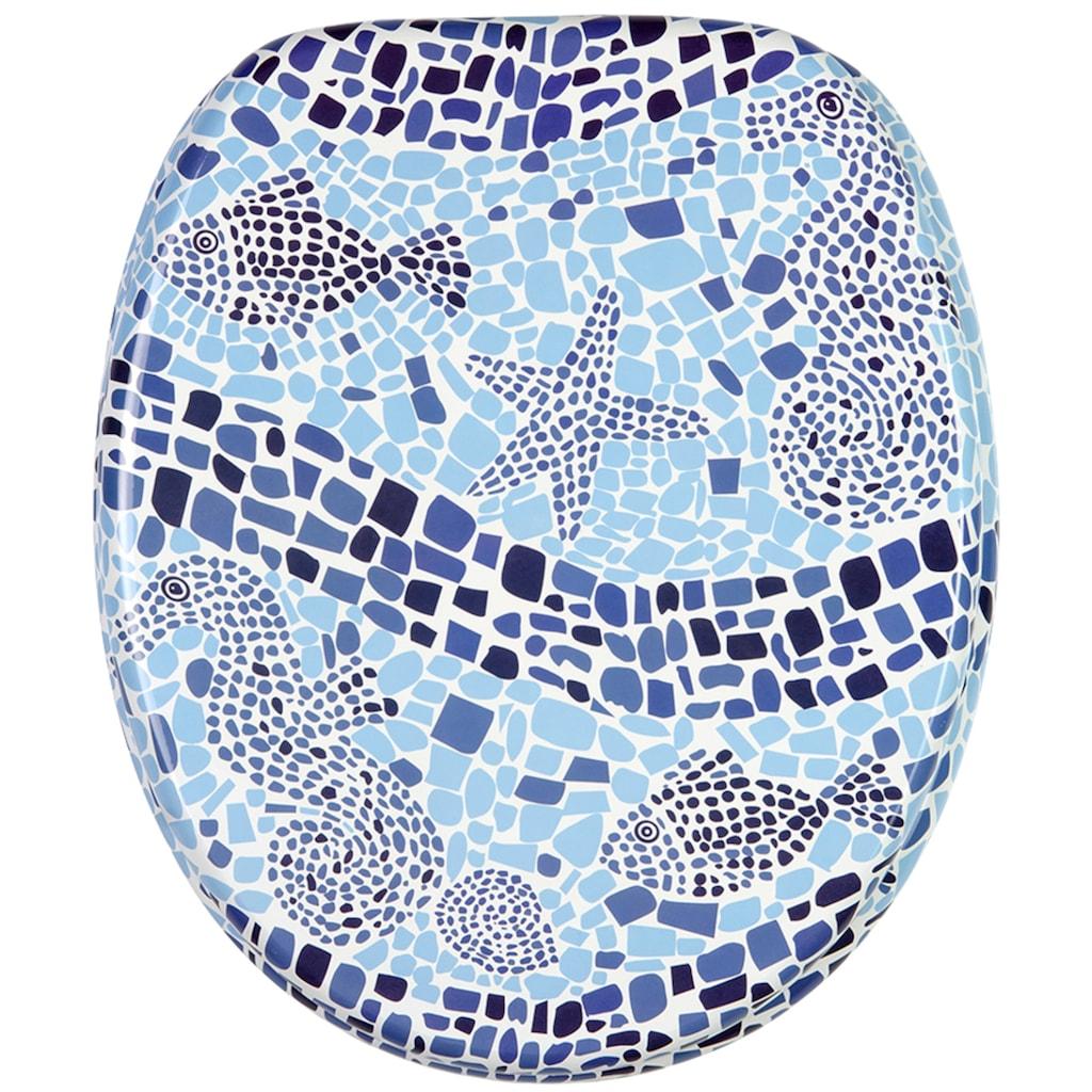 Sanilo WC-Sitz »Mosaic World«, mit Absenkautomatik