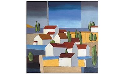 Artland Glasbild »Dorf in der Nähe vom Meer II«, Gebäude, (1 St.) kaufen
