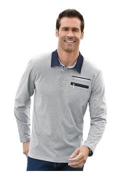 b454d31751b169 Marco Donati Langarm - Shirt mit konfektioniertem Kragen kaufen