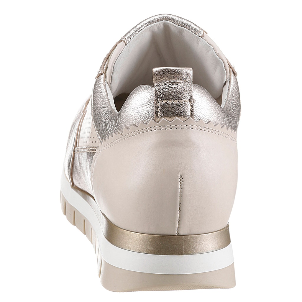 Gabor Keilsneaker »Davos«, mit Metallic Effekt