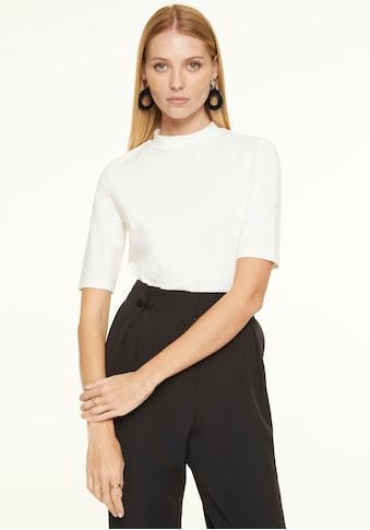 Comma Rundhalsshirt, aus softem Materialmix kaufen