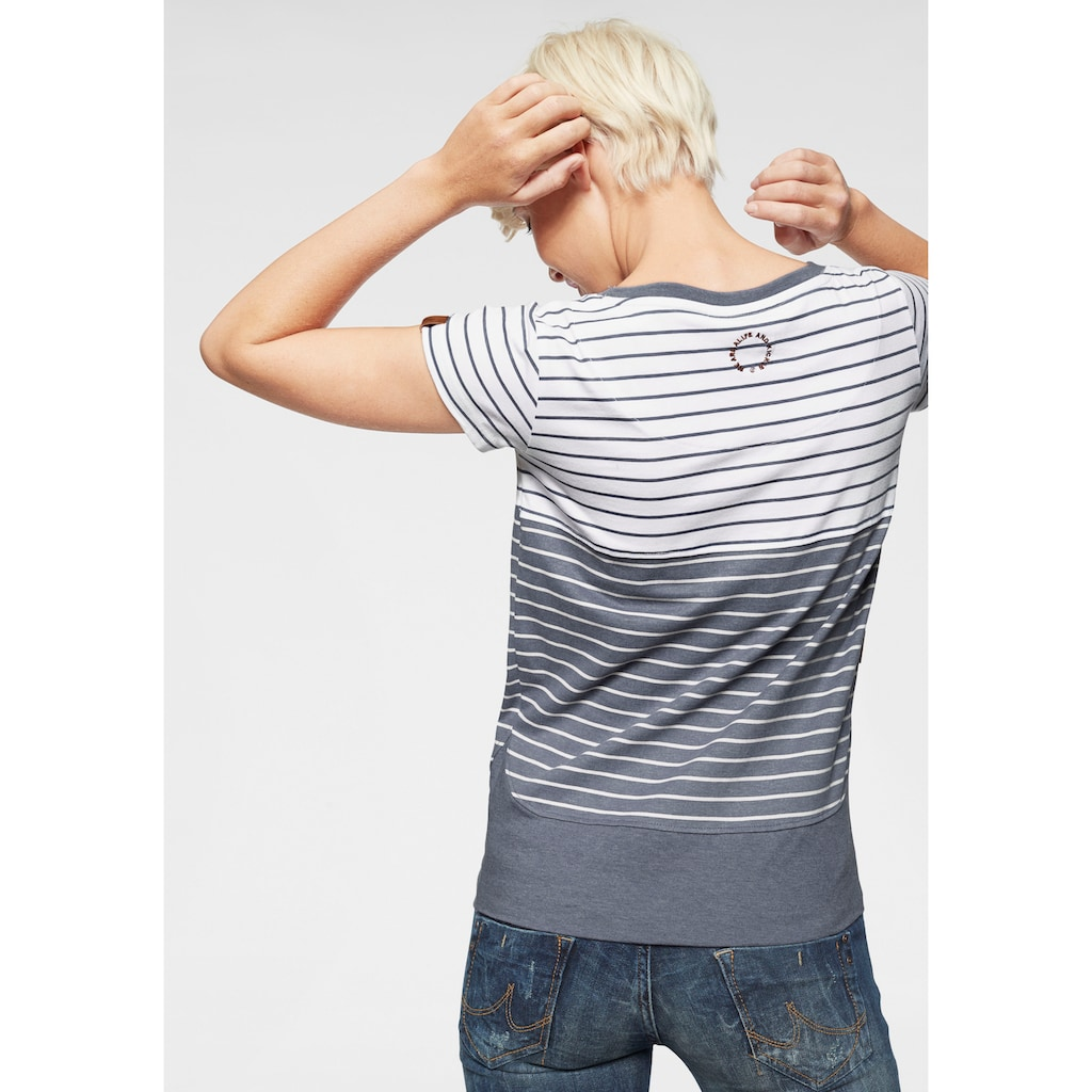 Alife & Kickin T-Shirt »CosmaAK«, angesagtes Kurzarmshirt im trendy Streifen-Mix