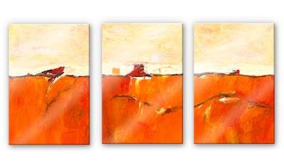 Wall-Art Mehrteilige Bilder »Abstrakte Herbstdeko (3-teilig)«, (Set, 3 St.) kaufen