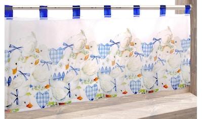 Delindo Lifestyle Scheibengardine »GÄNSE«, HxB: 45x120, mit Schlaufenaufhängung, für die Küche kaufen