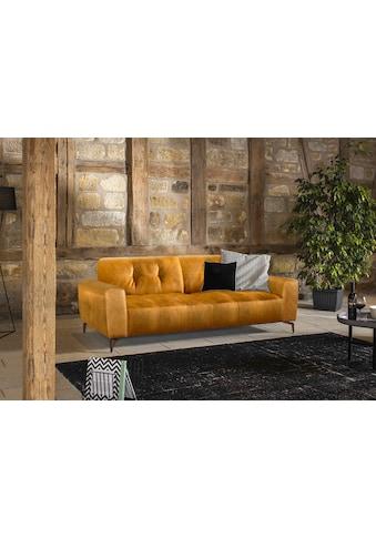 W.SCHILLIG 2,5-Sitzer »wilson«, in Trendfarbe Kurkuma, Füße Bronze pulverbeschichtet,... kaufen