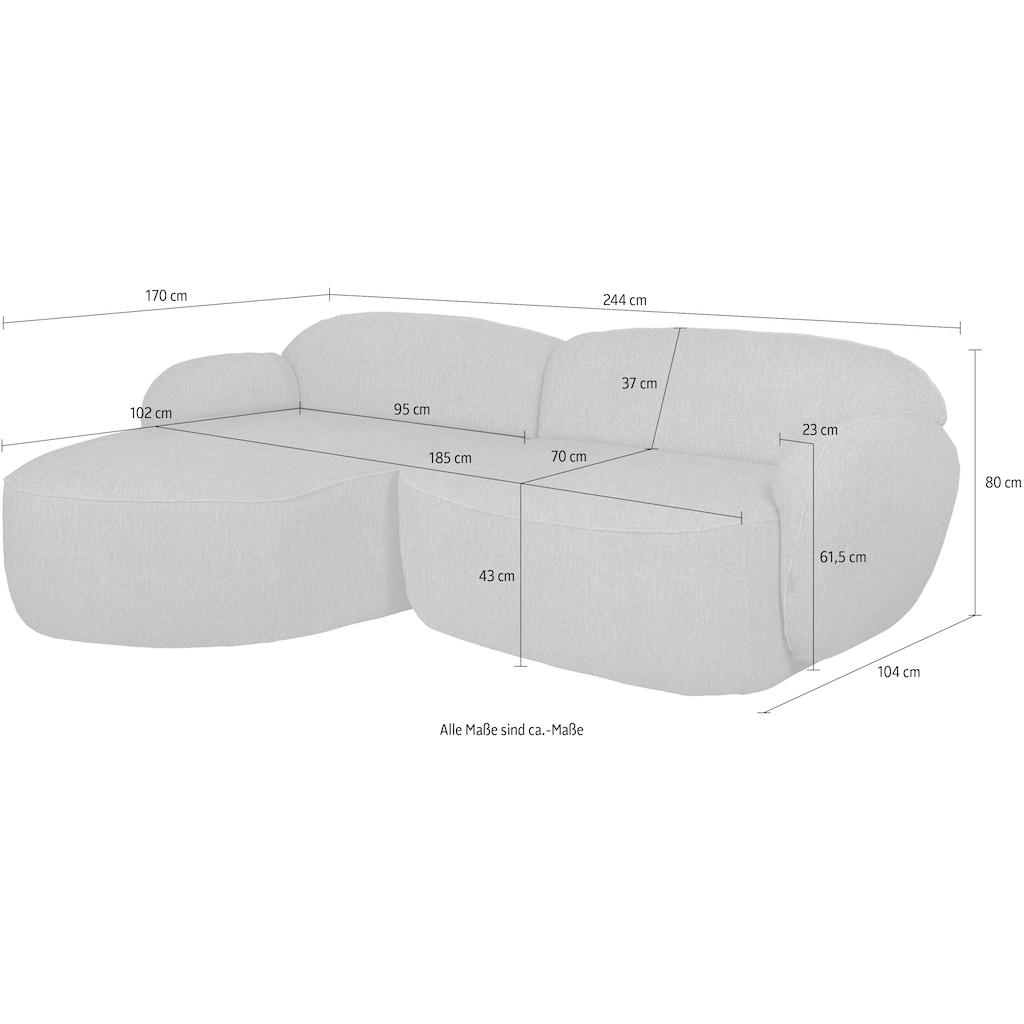 furninova Ecksofa »Bubble«, komfortabel durch Memoryschaum, im skandinavischen Design