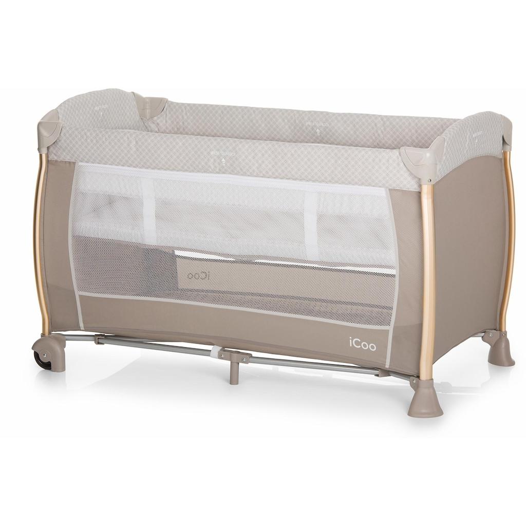 iCoo Baby-Reisebett »Starlight Diamond Beige«, inkl. Transporttasche