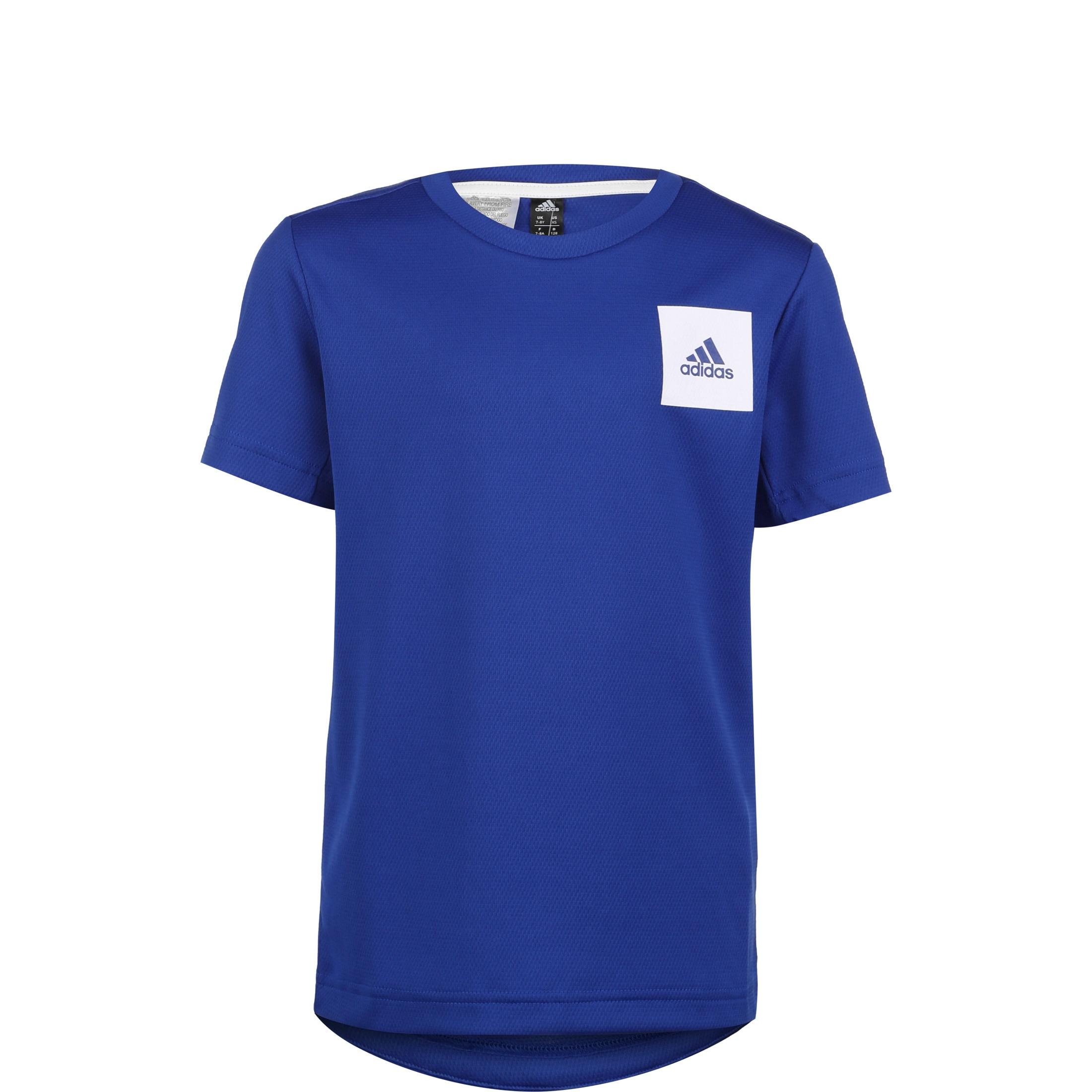 adidas Performance Trainingsshirt Aeroready blau Kinder Sport Shirts Sportmode Jungenkleidung T-Shirts