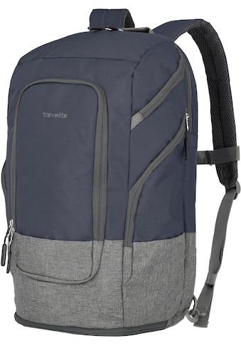 travelite Laptoprucksack »Basics L, 48 cm, marine«, Trolley-Aufsteck-System kaufen
