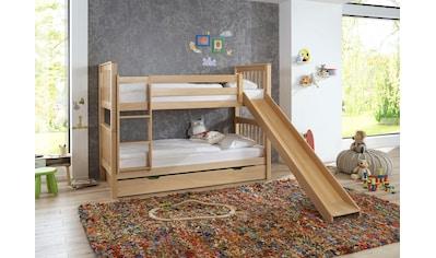 Relita Etagenbett »Kick«, mit Bettschublade, Buche kaufen