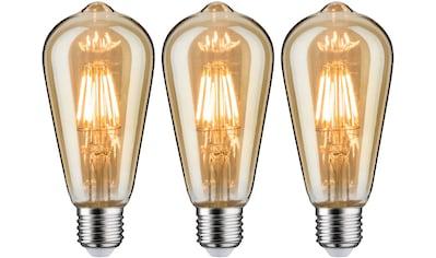 Paulmann »3er Pack 6 W Vintage Rustika goldlicht E27« LED - Leuchtmittel, E27, Extra - Warmweiß kaufen