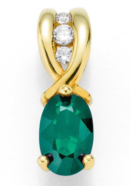 Firetti Kettenanhänger Oberfläche glänzend schimmernder Edelstein | Schmuck > Halsketten > Kettenanhänger | Firetti