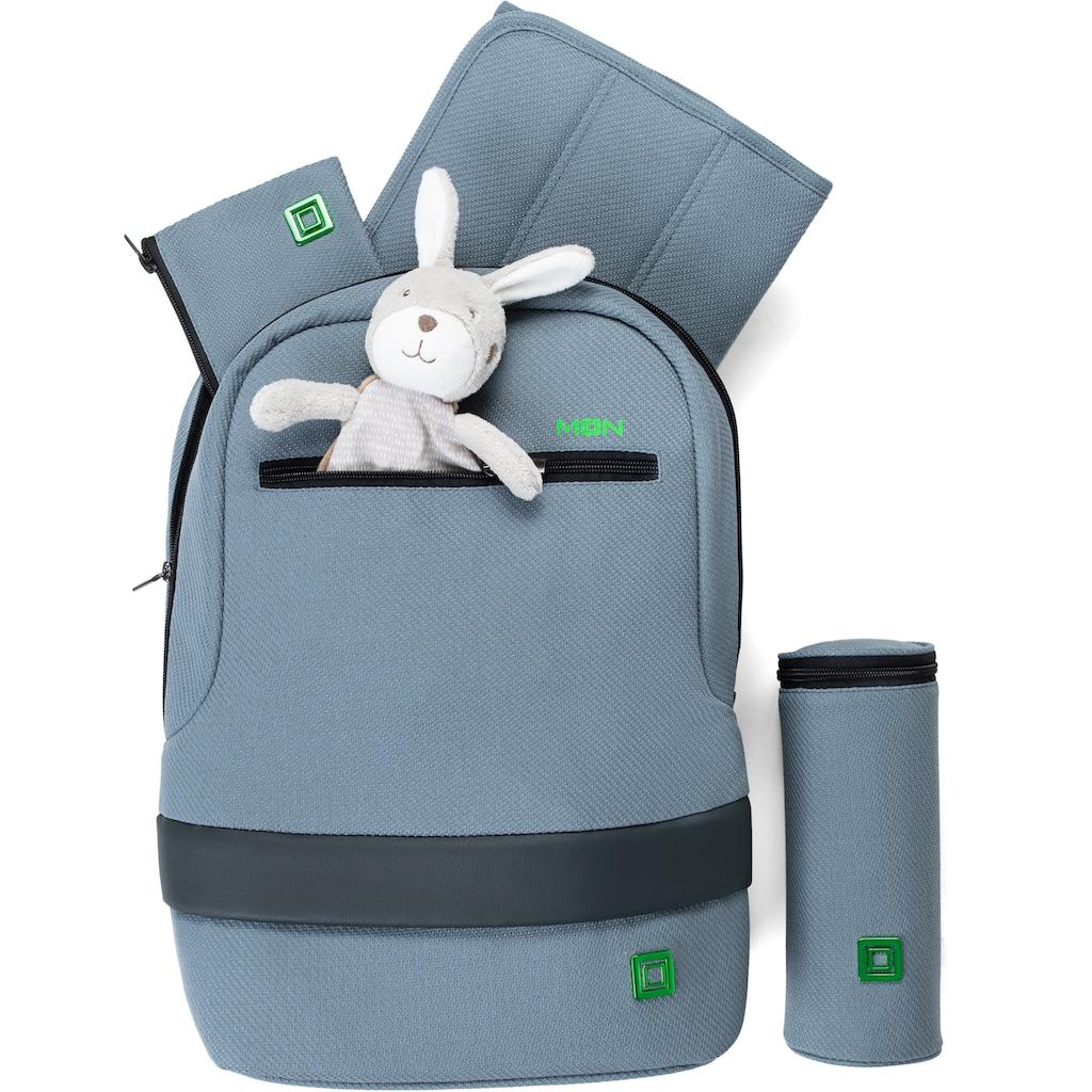 Moon Wickelrucksack, mit Befestigungssystem für den Kinderwagen, enthält recyceltes Material (Global Recycled Standard)