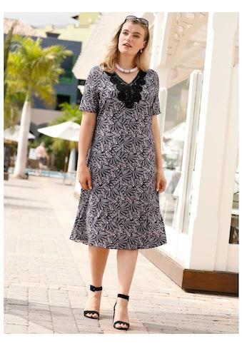 m. collection Jerseykleid mit floralem Druckdessin rundum kaufen