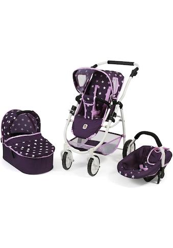 CHIC2000 Kombi-Puppenwagen »Emotion All In 3in1, Stars Lila«, inkl. Babywanne, Babyschale und Sportwagenaufsatz kaufen