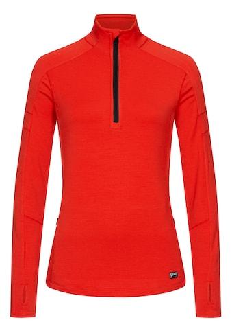 SUPER.NATURAL Sweatshirt »W MOTION 1/4 ZIP«, angenehmer Merino-Materialmix kaufen