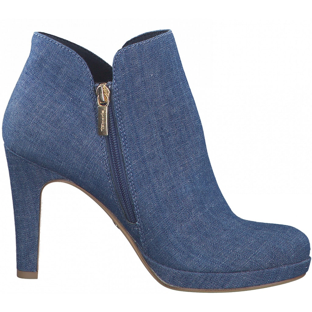 Tamaris High-Heel-Stiefelette, im coolen Jeans-Look
