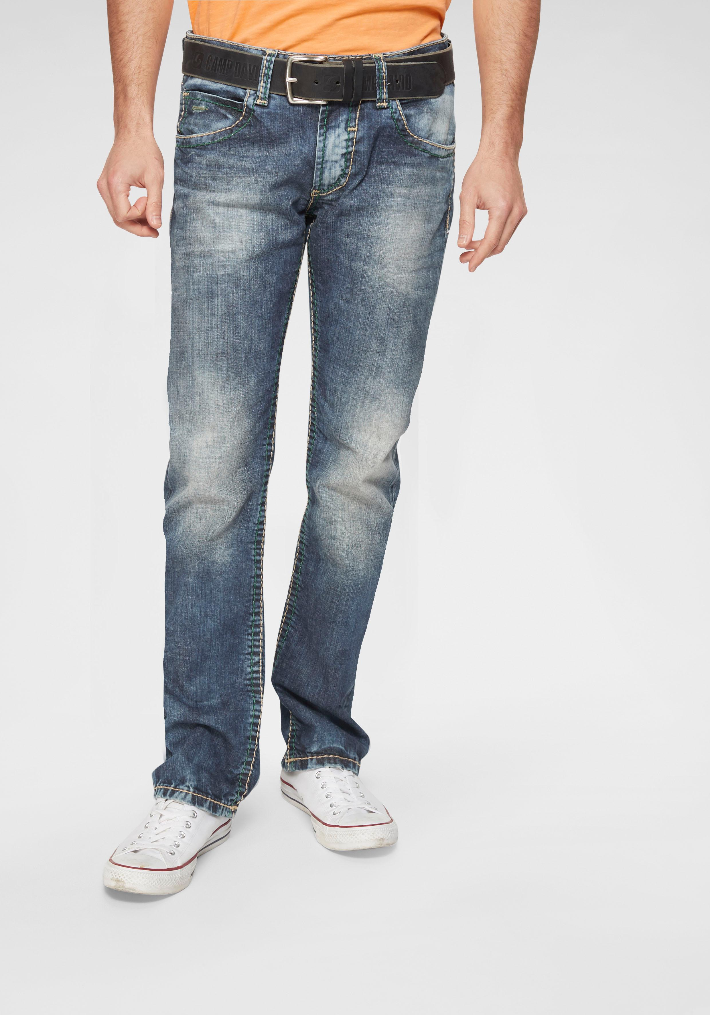 CAMP DAVID Straight-Jeans NI:CO:R611 | Bekleidung > Jeans > Straight Leg Jeans | Blau | camp david
