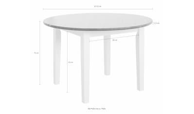 Home Affaire Esstisch »Danuta« Aus Massiver Kiefer, Runde Ausführung Kaufen