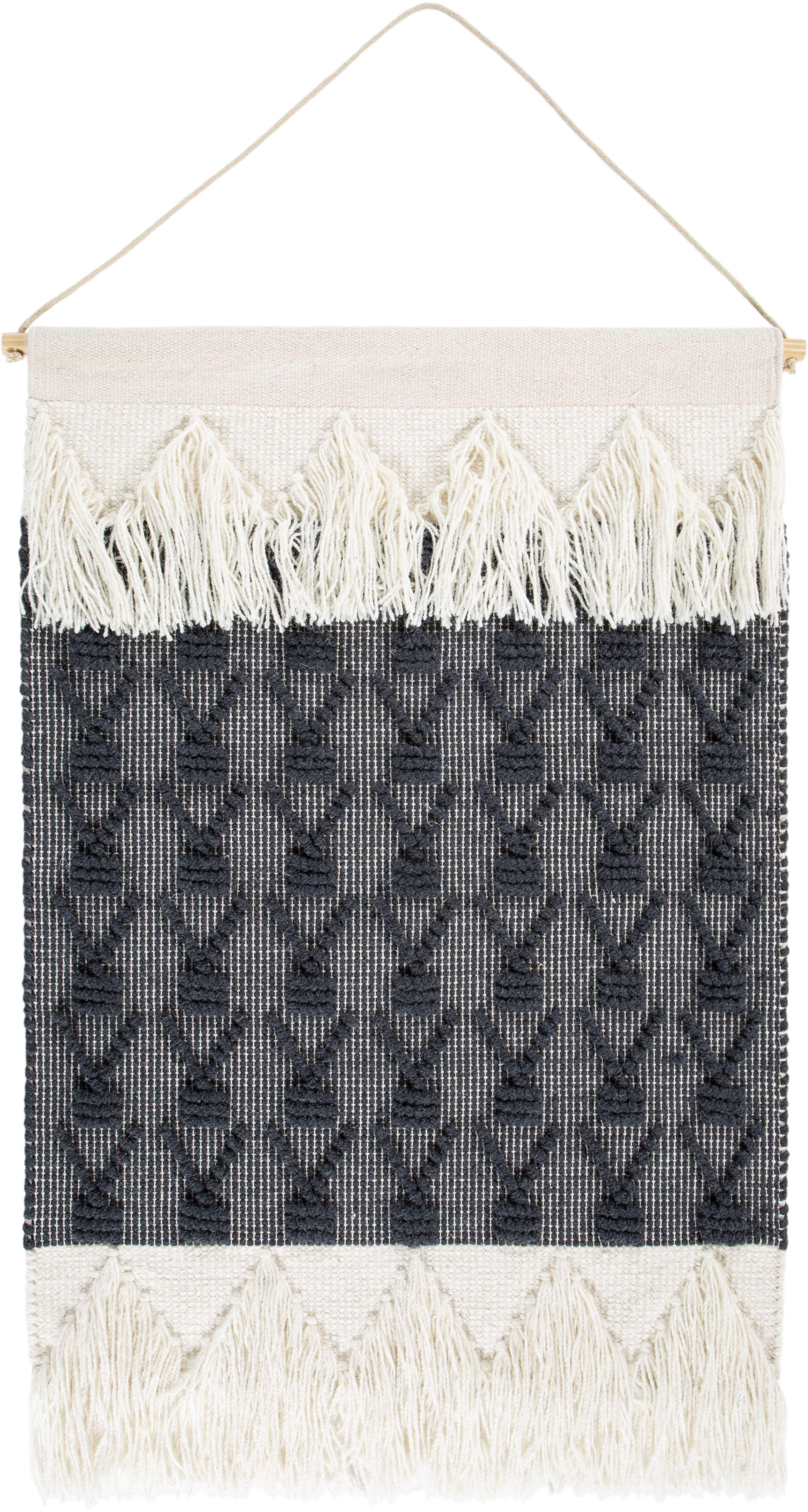Wandteppich Skagen 1 LUXOR living rechteckig Höhe 10 mm handgewebt   Heimtextilien > Teppiche > Wandteppich   Grau   Wolle   Luxor Living