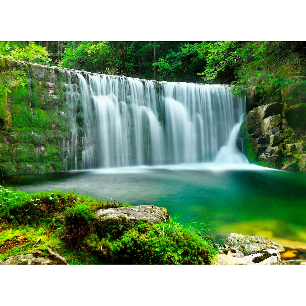 Papermoon Fototapete »Emerald Lake Waterfalls«